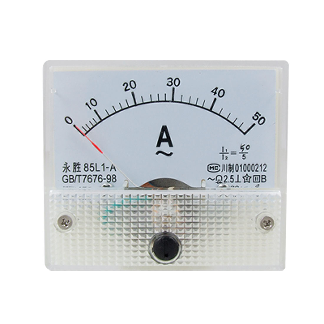 Class 2.5 85L1 AC 0-50A Rectangle Analog Panel Ammeter Gauge