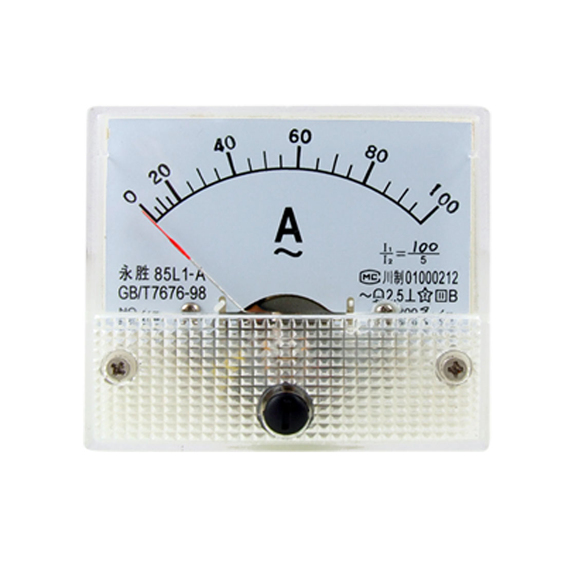 85L1 AC 0-100A Rectangle Analog Panel Ammeter Gauge
