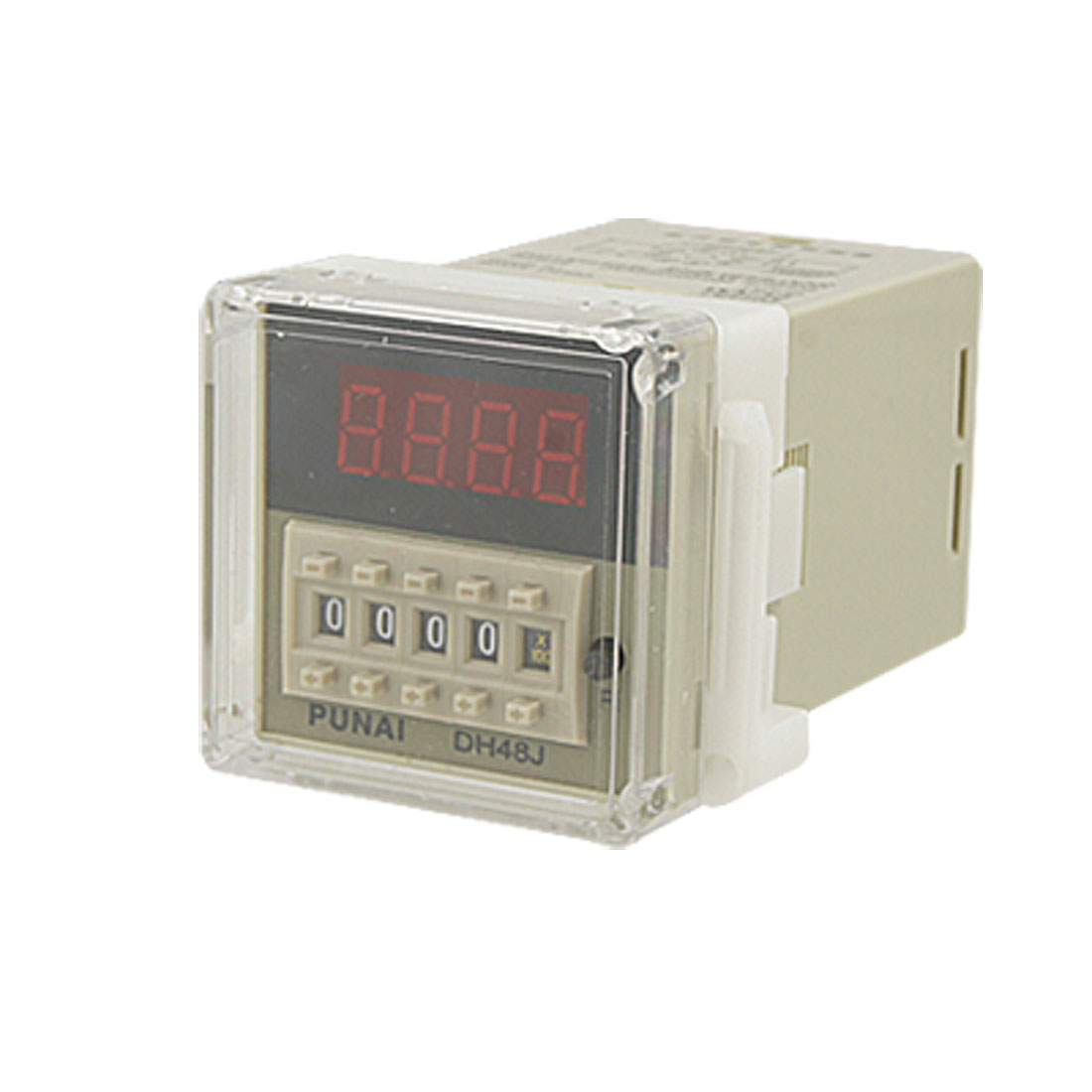 DH48J 220V AC 30 CPS Digital Counter Relay 1-9999 (x1,x10,x100) 8 Pin