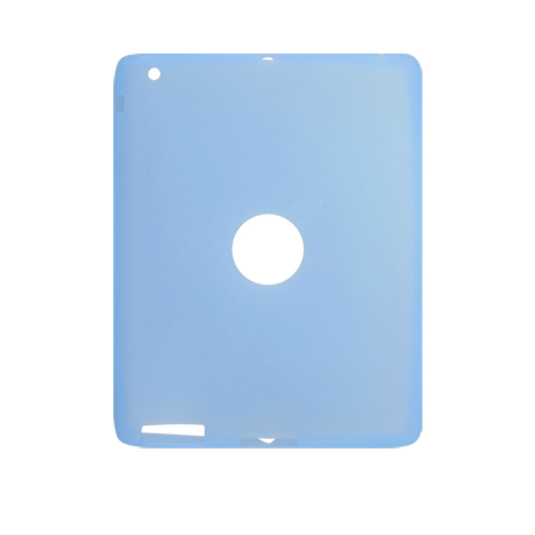 Clear Blue Silicone Skin Case Protector for Apple iPad 2