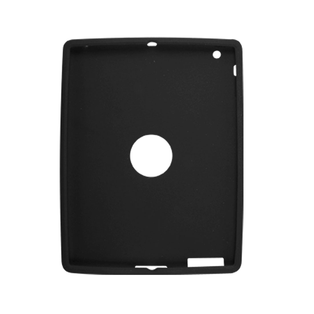 Black Silicone Skin Protector Case Guard for Apple iPad 2G