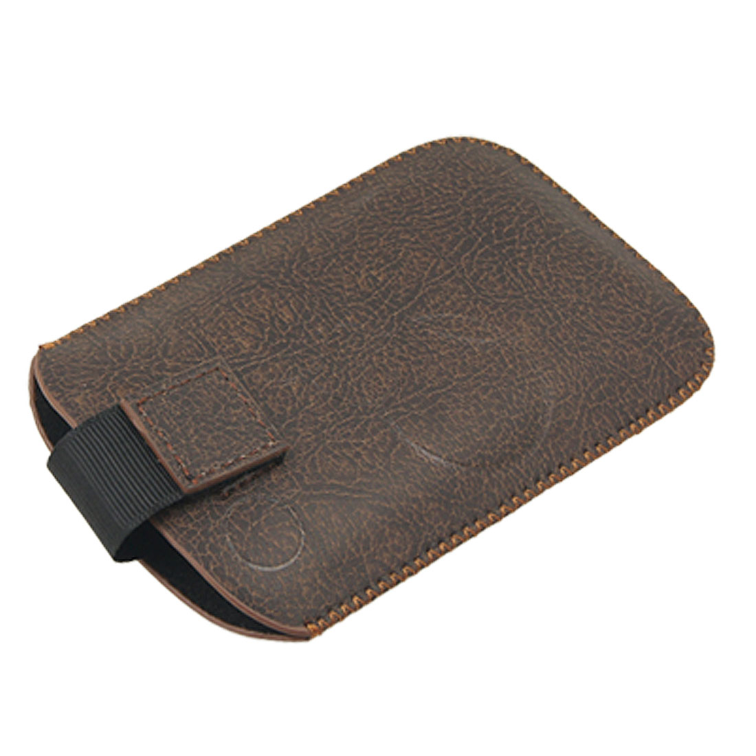 Round Print Brown Faux Leather Sleeve Holder for HTC Wildfire G8