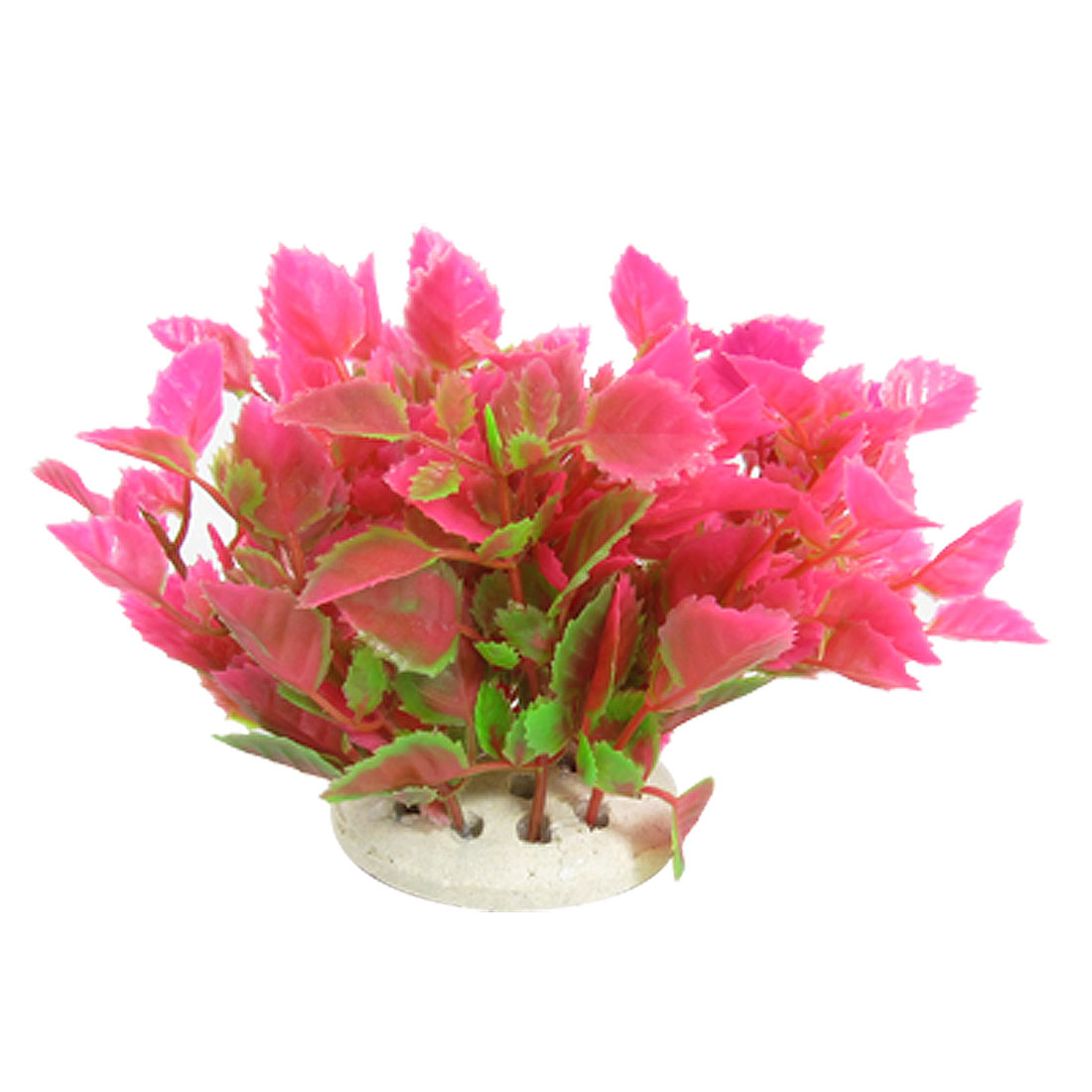 Aquarium Fish Tank Water Wonder Hot Pink Plastic Plant Decor
