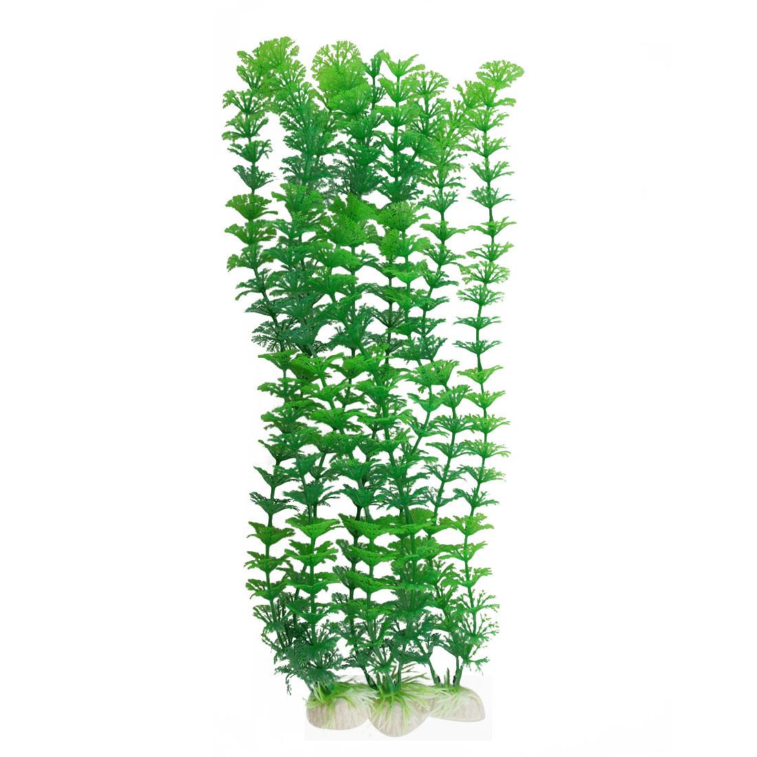 Aquarium Fish Tank Green Plastic Hottonia Inflata Plant 3 Pcs