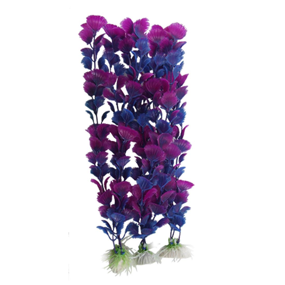 Aquarium 34cm Artificial Blue Amaranth Ginkgo Leaf Plant Decor