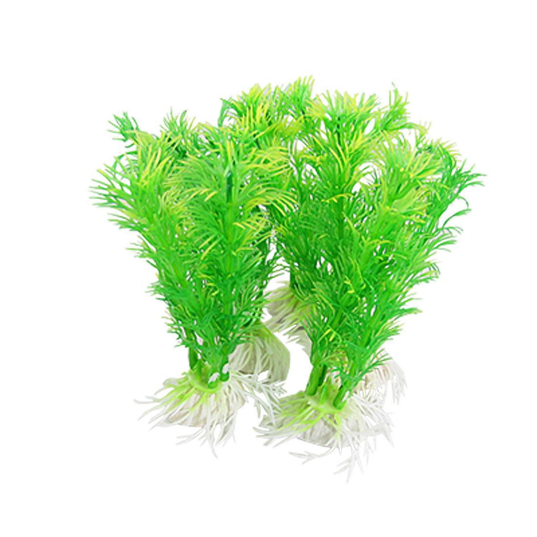 """Aquarium Ornament 4.3"""" Artificial Plastic Plant Green"""