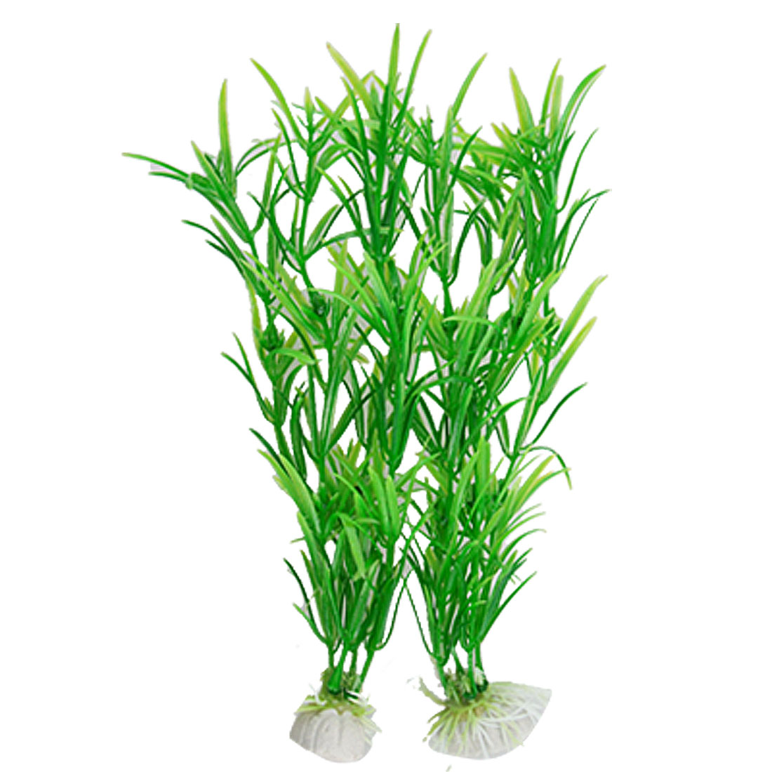 2 Pcs Decorative Green Water Plants Ornement for Fiah Tank