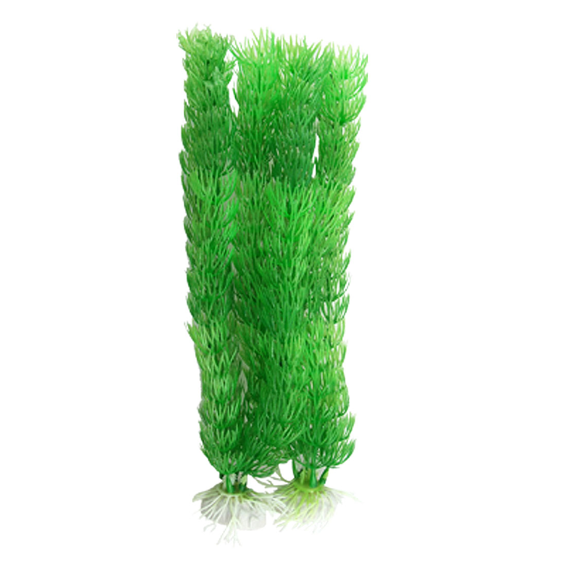 Green Plastic Ceratophyllum Plants Fish Tank Aquarium Ornament 2 Pcs