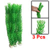 3 Pcs Aquarium Decorative Plastic Green Ceratophyllum Grass