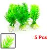 """5 Pcs 3"""" Water Dwarf Plastic Plant Decoration Green for Fish Tank"""
