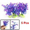 5 Pcs Purple Blue Plastic Plant Fish Tank Decoration