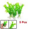 Aquarium Green Artificial Plastic Plant Decoration 5 Pcs