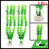 "11.4"" Aquarium Fish Tank Decor Green Plastic Water Plant 2 Pcs"