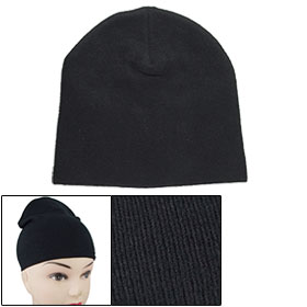 Children Black Stretchy Winter Warm Beanie Hat Cap