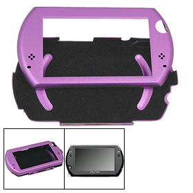 Detachable Purple Aluminum Shell Case for Sony PSP GO