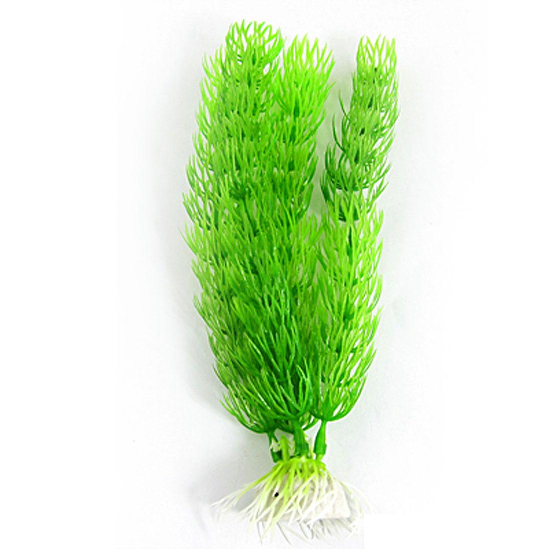 Artificial Green Plastic Plants for Aquarium Fish Tank Ornament