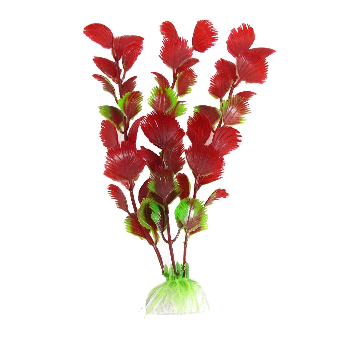 Red Green Emulational Plastic Water Plants Ornament for Aquarium