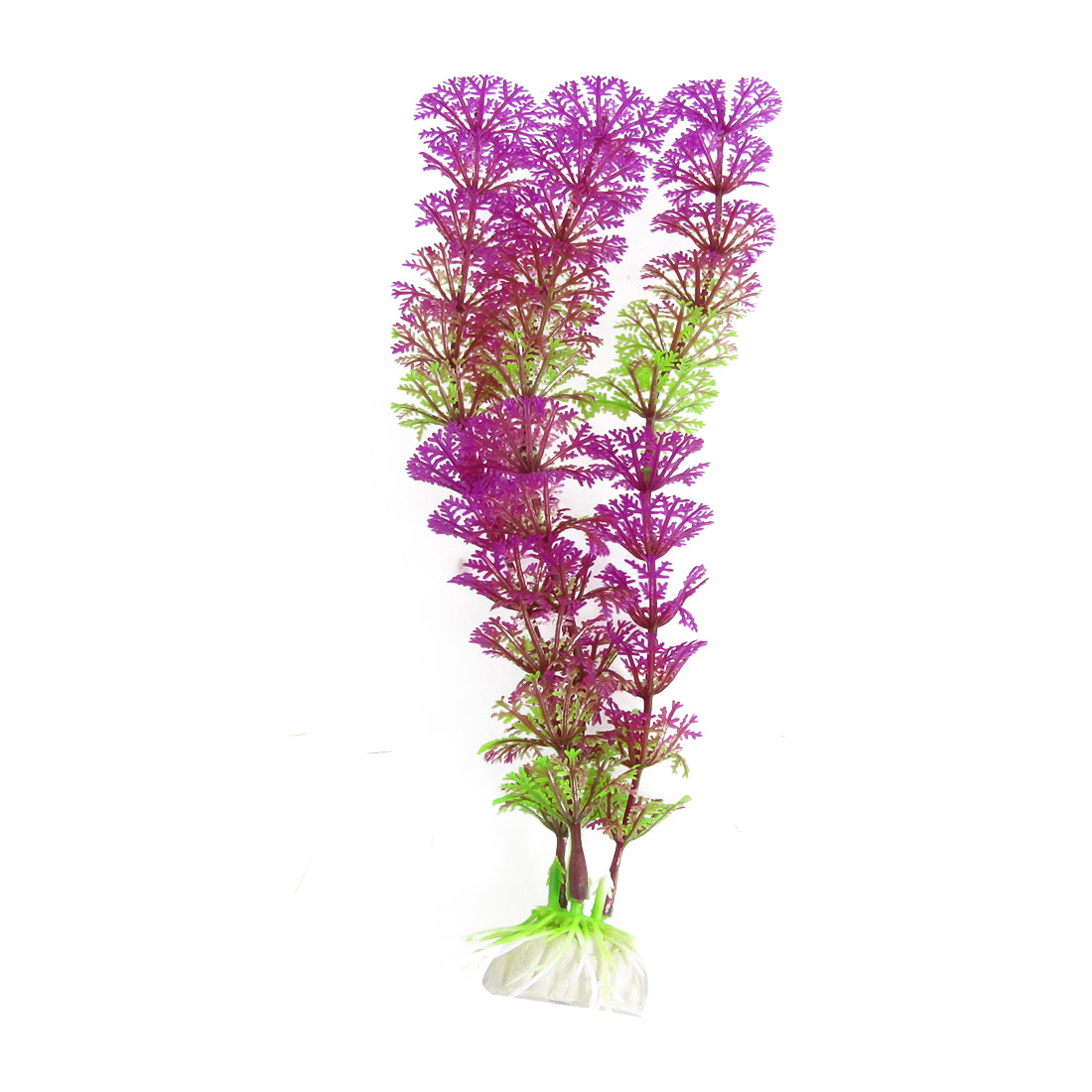 Aquarium Artificail Fuchsia Green Plastic Plants Ornament