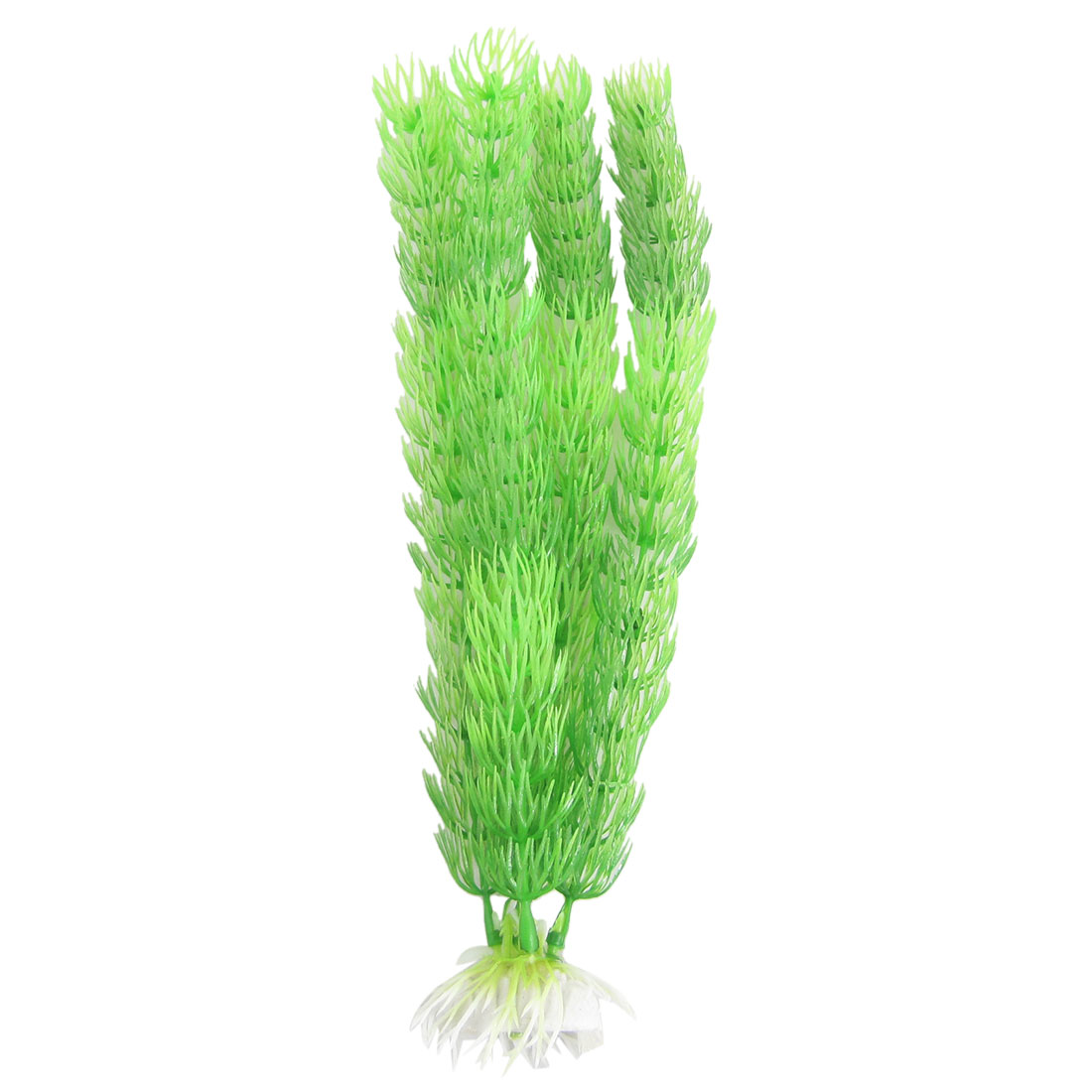 Ceramic Base Fish Tank Plastic Grass Green Plants Decor 9.8""