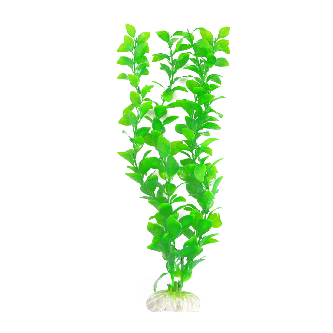 "12.6""Green Plastic Leaf Plants Ornament for Aquarium Fish Tank"