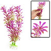 Aquarium Landscaping Plastic Plants w Base Fuchsia Green