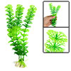 Green Aquarium Landscaping Ornament Plastic Water Plants w Base