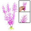 Aquarium Landscaping White Fuchsia Plastic Plants Decor