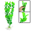 Artificail Ornament Green Plastic Plants w Base for Aquarium