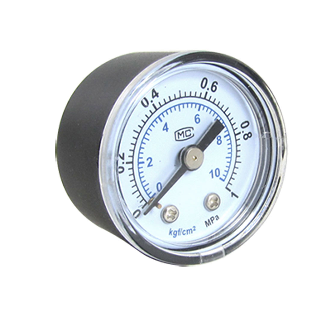 "0.35"" Threaded NPT 1 MPa Round Dial Gaseous Air Pressure Gauge"