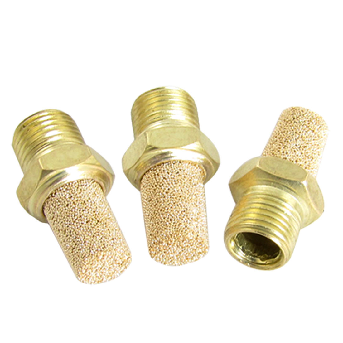 3Pcs Sintered Bronze Pneumatic Exhaust Noise Silencer Muffler