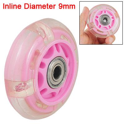 Flash LED Lighting Pink Clear Wheel for Roller Skating Shoes