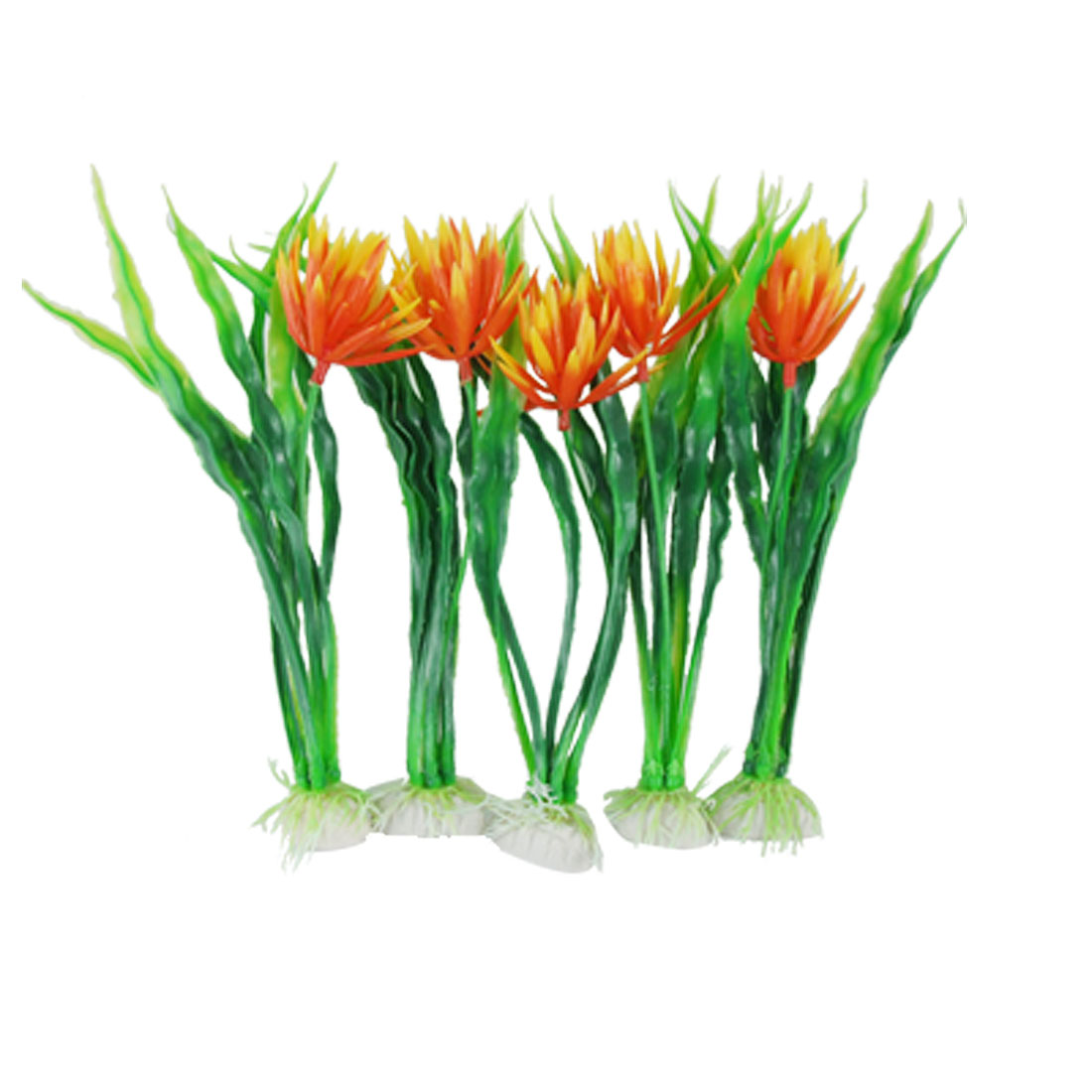 Fish Tank Plastic Bucephalandra Sp Orange Flower Decor