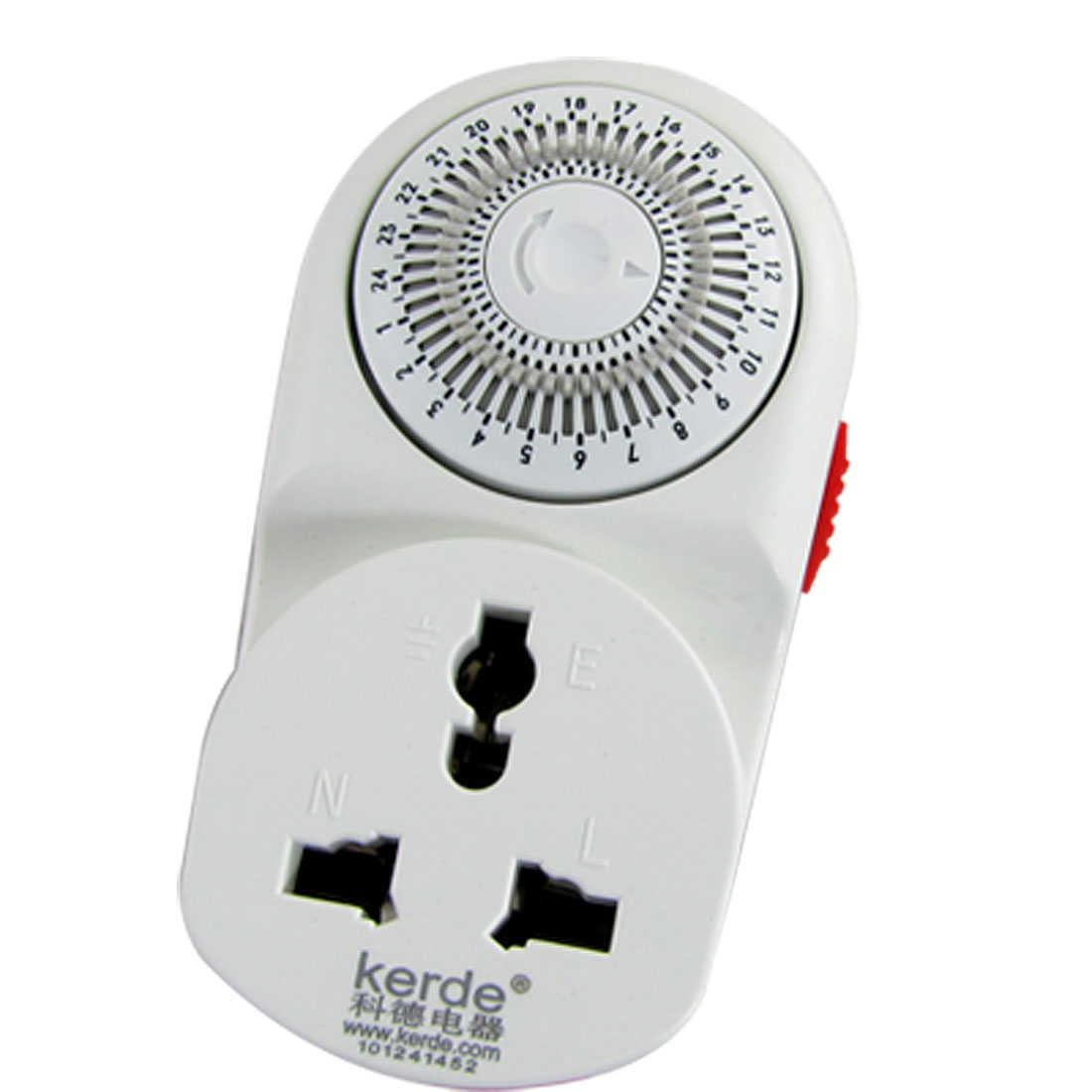 AU Plug AC220V 10A 24 Hour Wall Mechanical Timer White