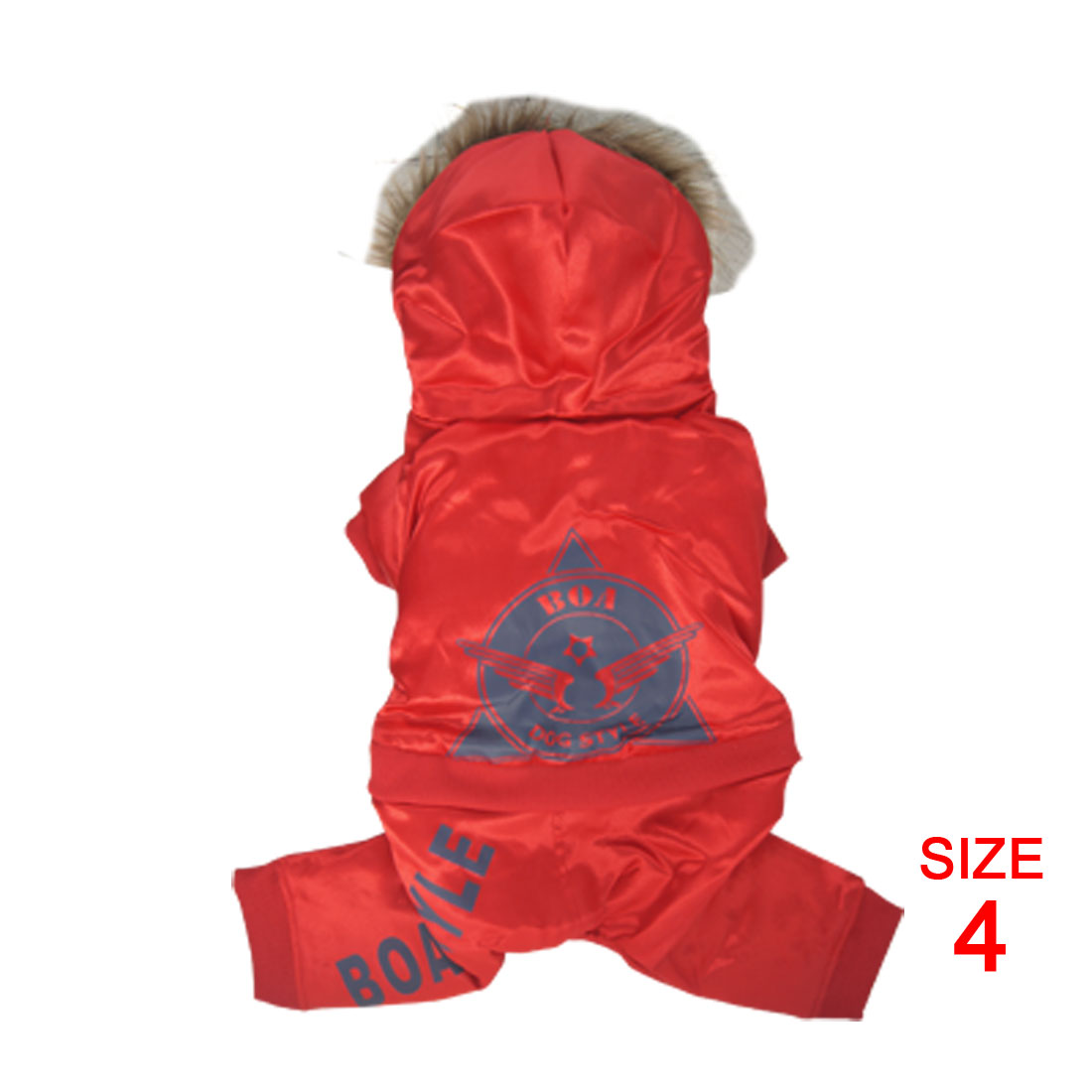 Size XL Red Pet Puppy Dog Apparel Coat Jacket Jumper Pants Hoodies Clothes