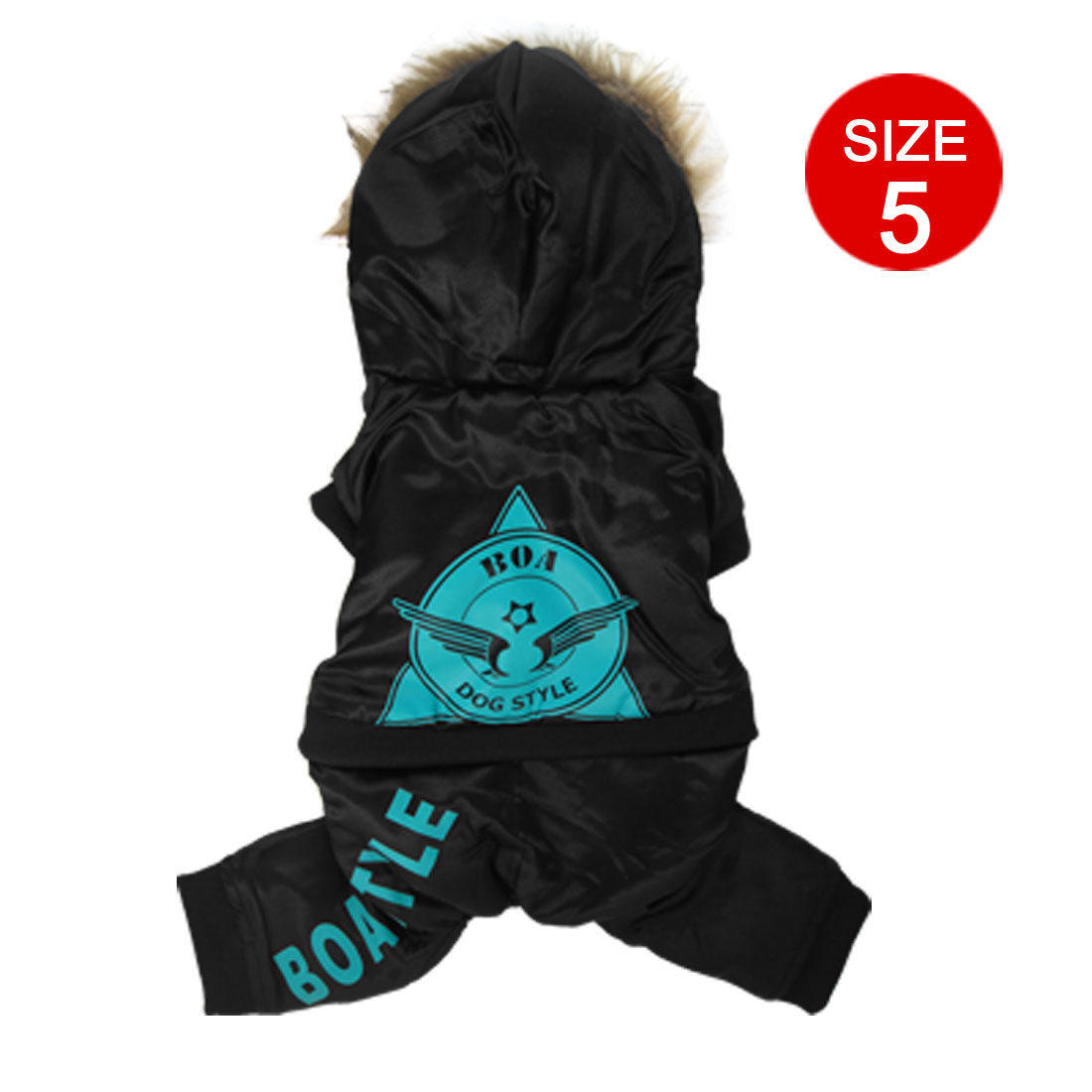 Black Winter Warm Pet Puppy Dog Apparel Hoodies Coat Jumper Jacket Size XXL