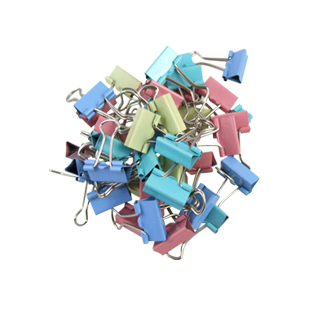 40Pcs Office Assorted File Organize Metal Binder Clips 19mm