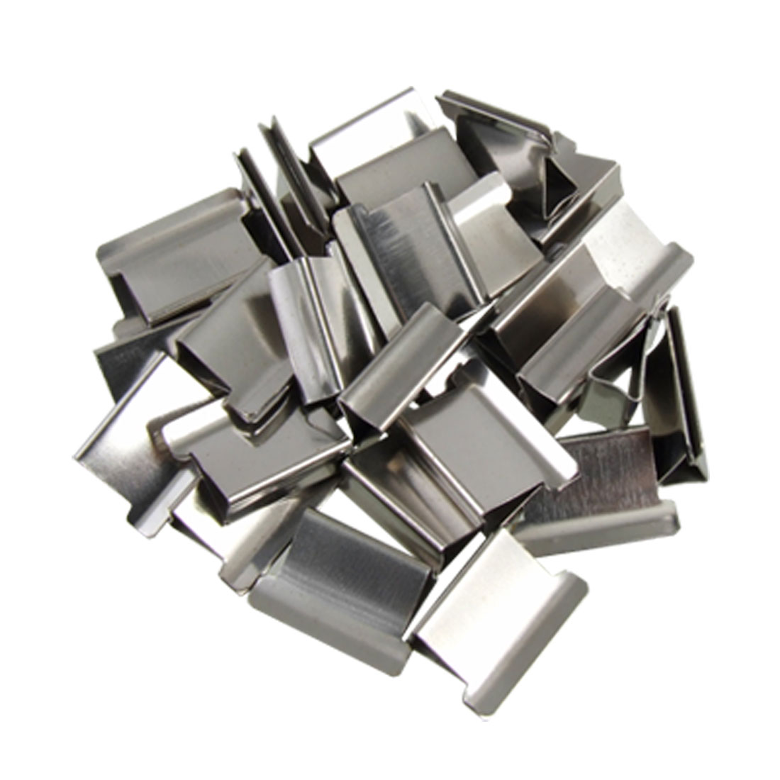 30Pcs Silver Tone Reusable Fast Clam Clip Dispenser Refill