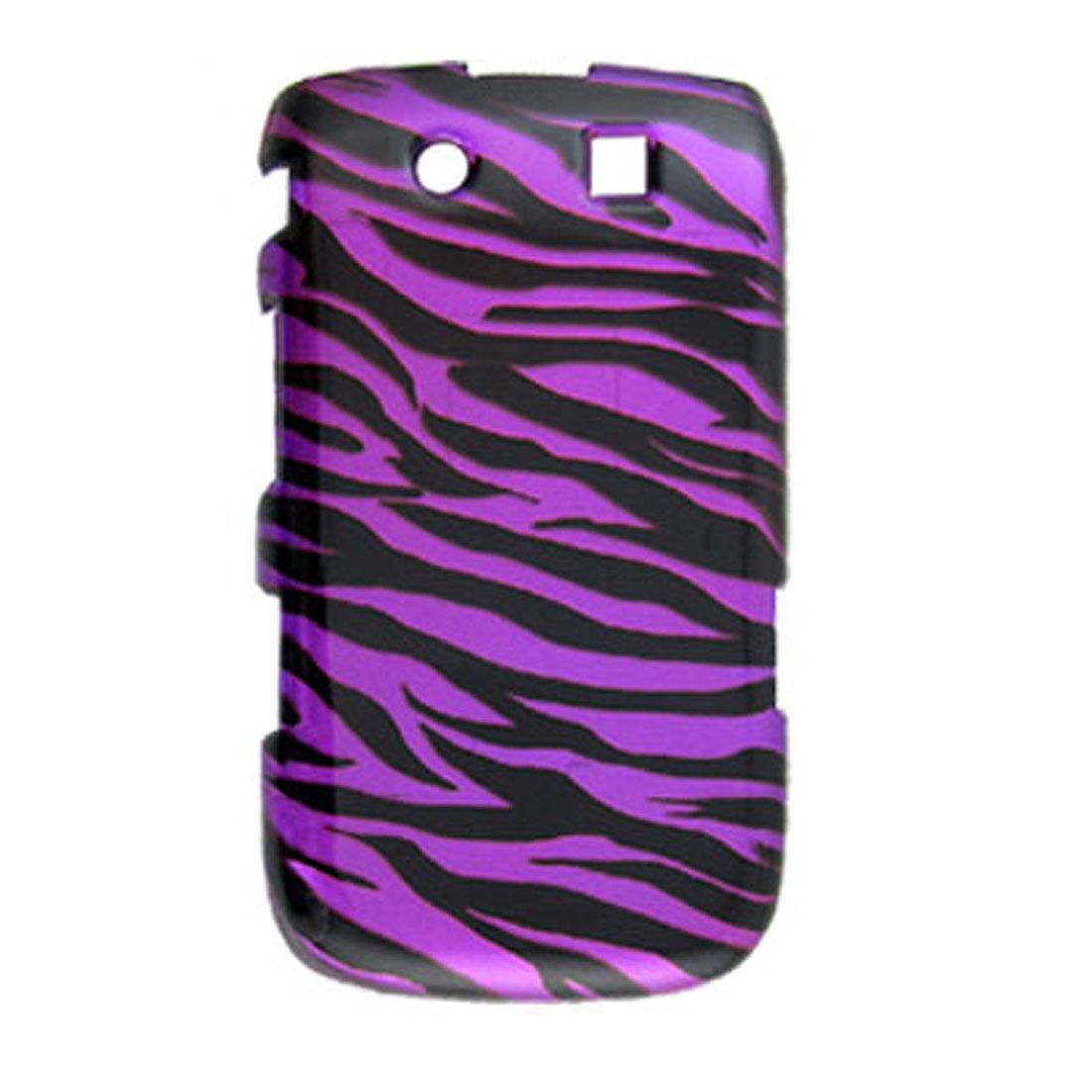 Purple Background Black Zebra Print Case for Blackberry Torch 9800