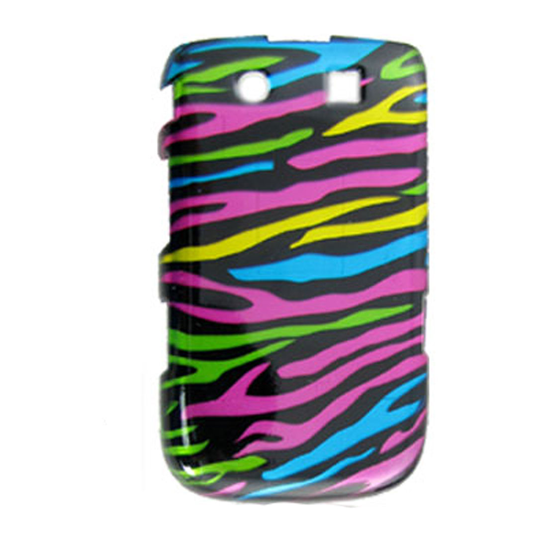 Colorful Zebra Print Plastic Case Guard for Blackberry Torch 9800