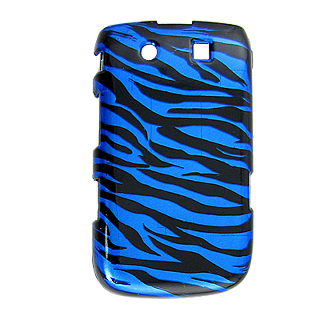 Black Royal Blue Plastic Case Protector for Blackberry Torch 9800