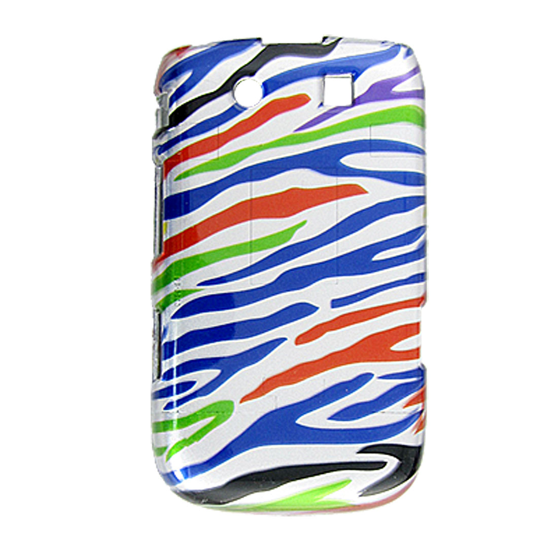 Colors Zebra Print Separated Plastic Case for Blackberry Torch 9800