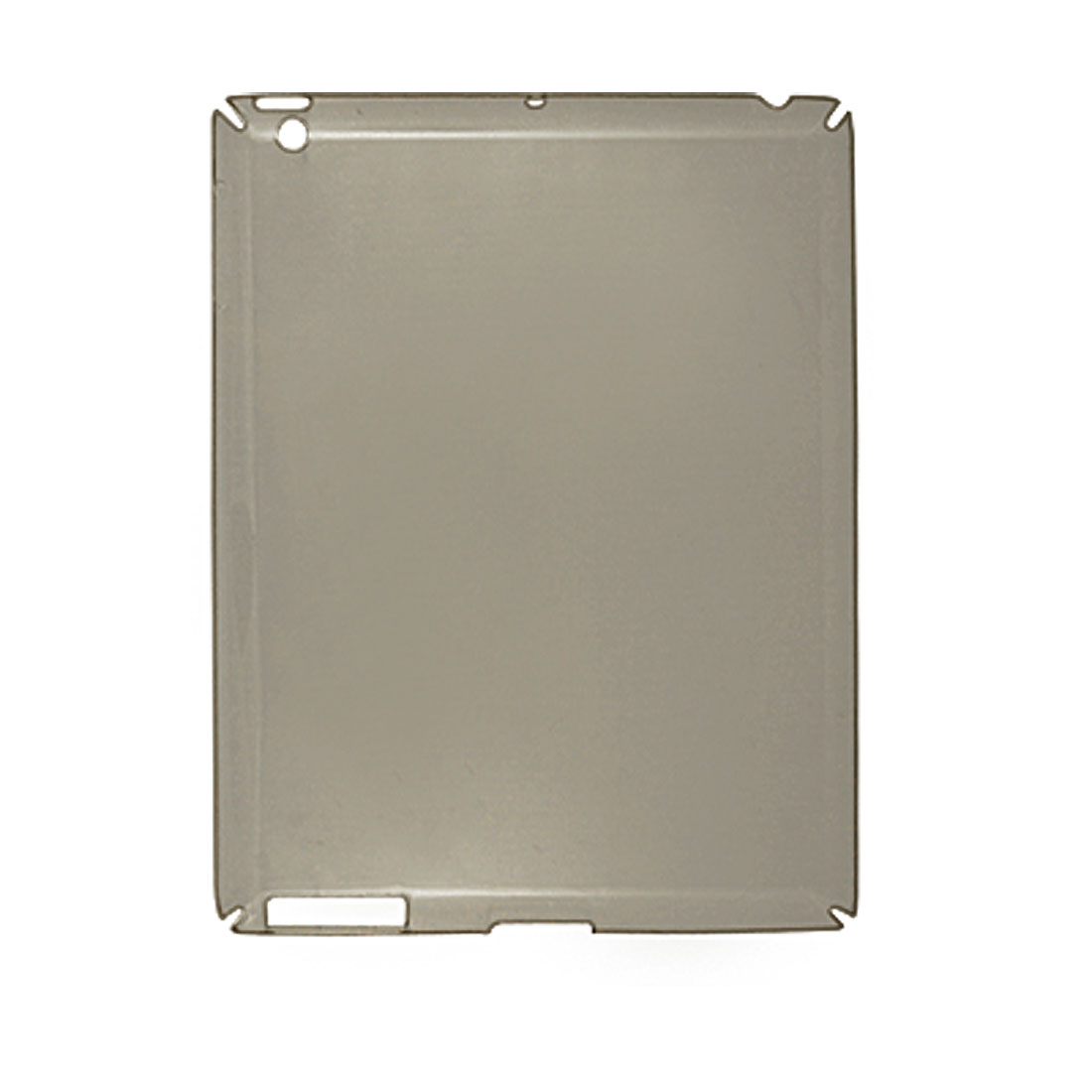 Clear Gray Hard Plastic Smooth Back Case for iPad 2
