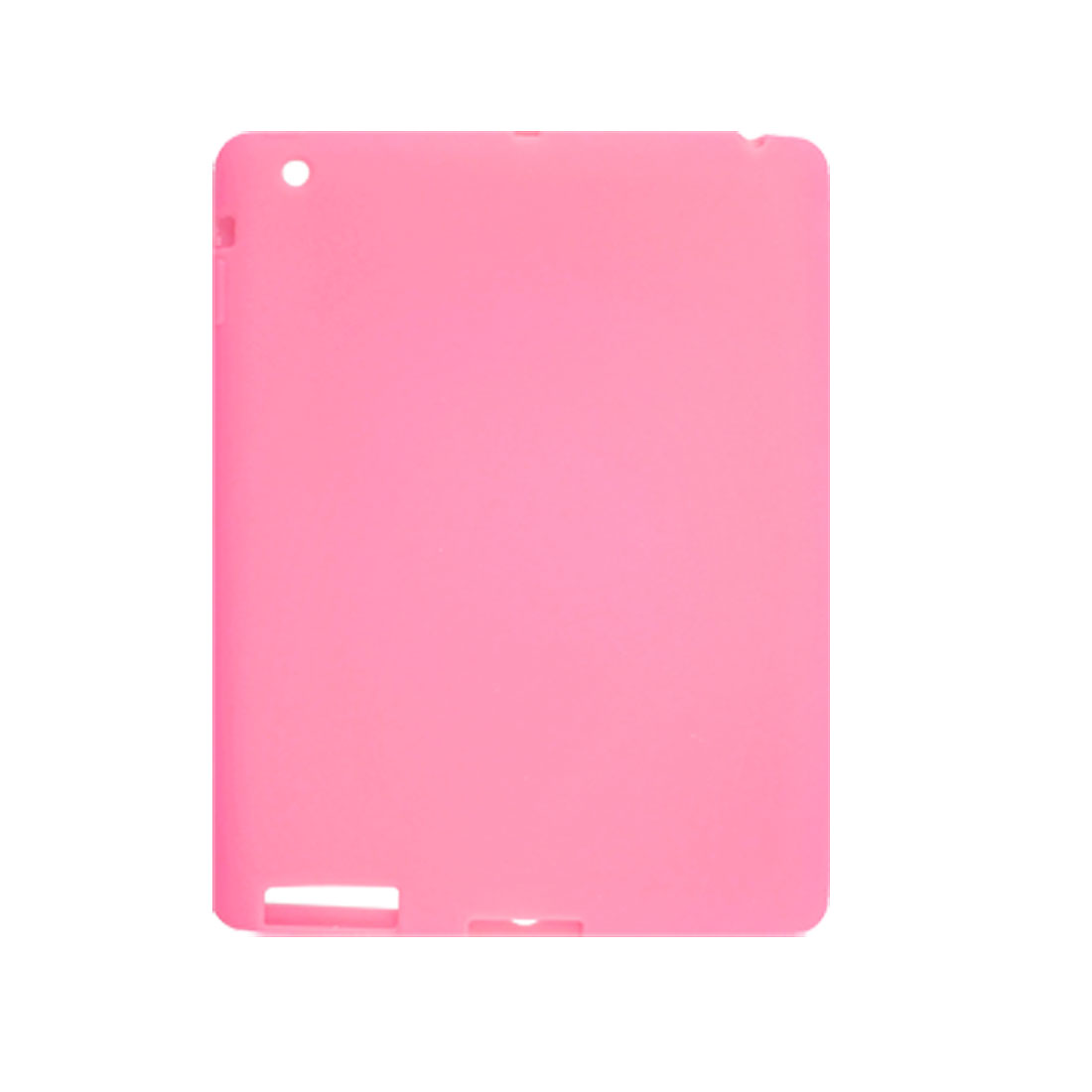 Pink Soft Silicone Protective Cover for iPad 2G
