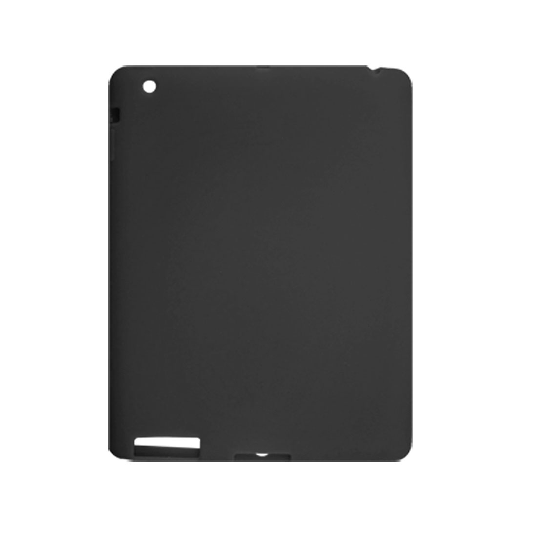 Black Silicone Skin Protector Cover for Apple iPad 2G