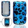 Black Paw Print Cover Blue for BlackBerry Torch 9800