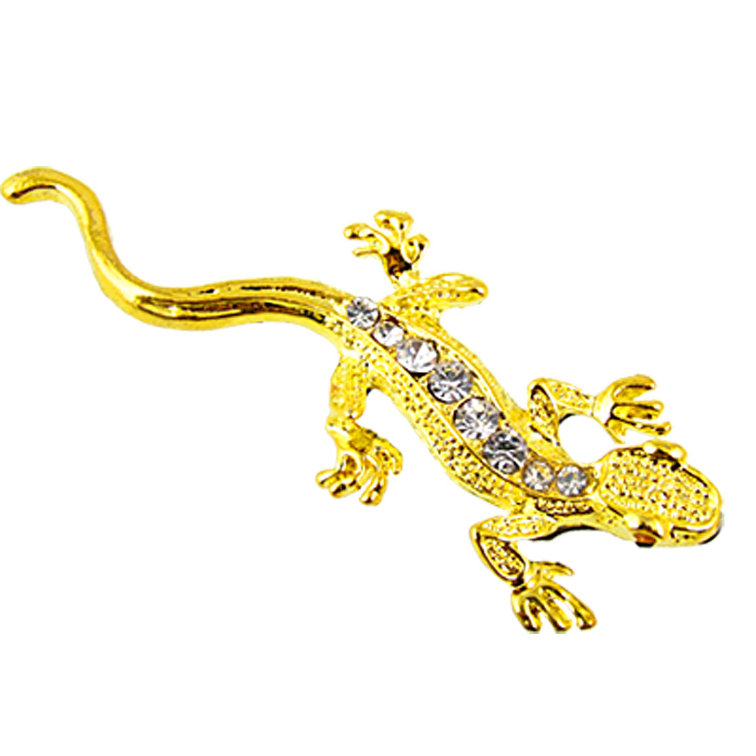 Car Auto Gold Tone Metal Emblem Gecko Sticker Decal
