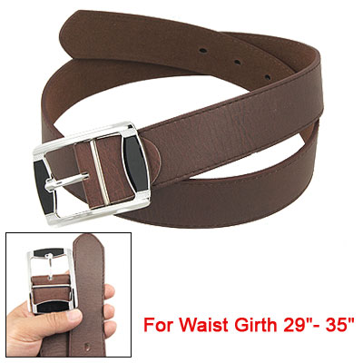 Lady Coffee Faux Leather Band 6 Holes Adjustable Waist Belt