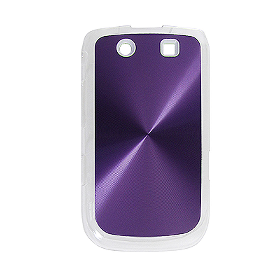 Reflective Purple Hard Plastic Cover for BlackBerry Torch 9800