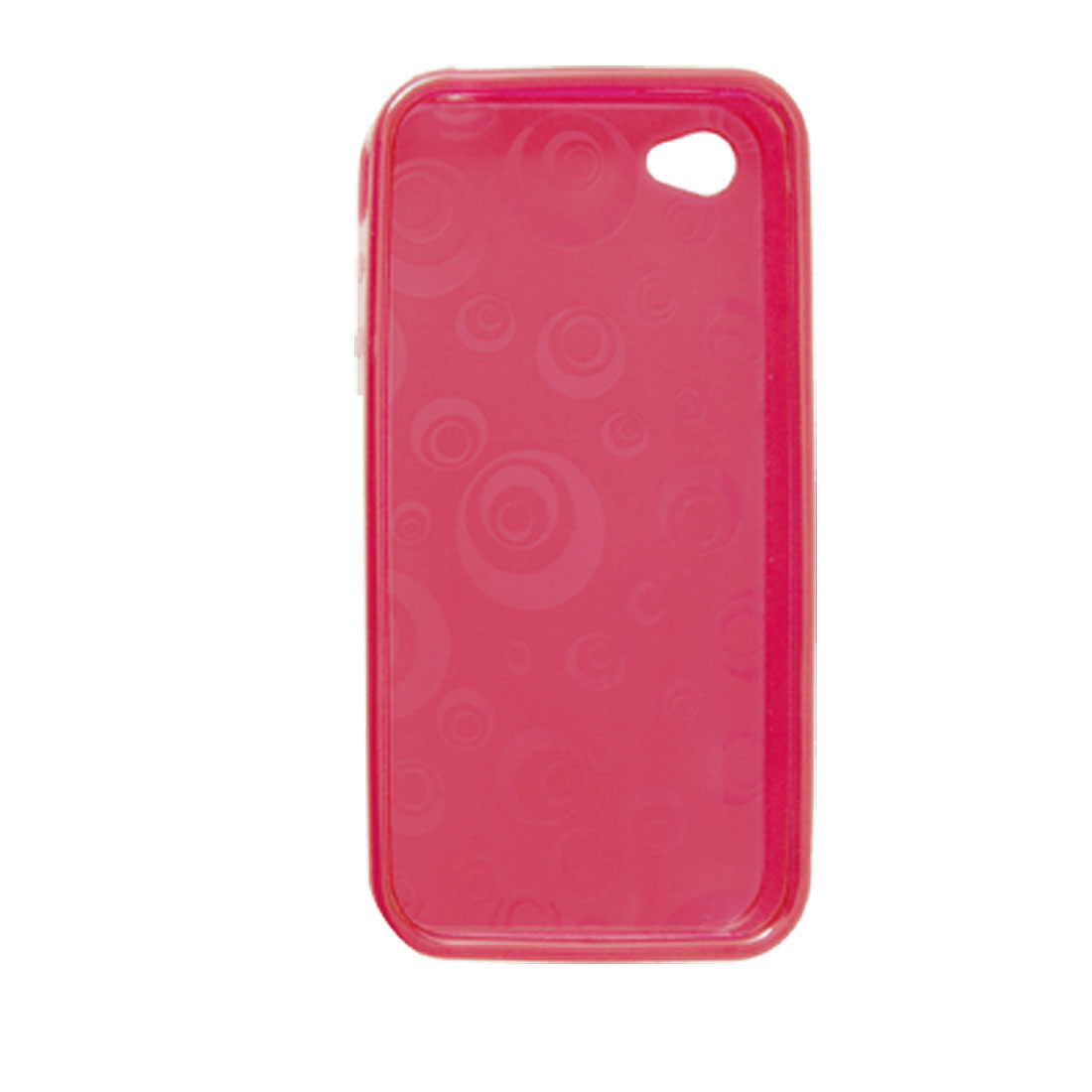Red Circles TPU Soft Plastic Case for iPhone 4 4G