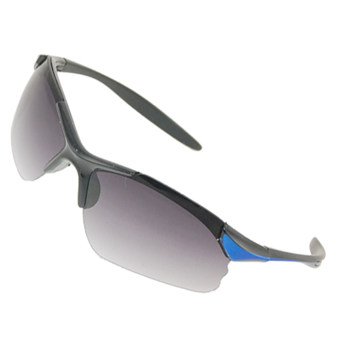 Lady Plastic Silm Arms Gradient Lens Gray Black Sunglasses